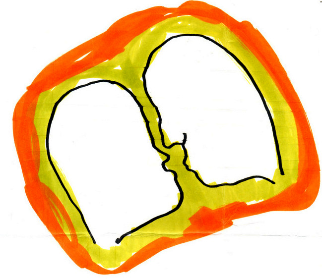 """""""Ich liebe leben 3"""", disegno di C.Conte ('90)"""